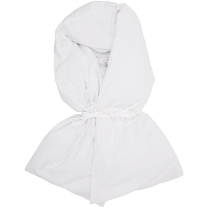 MM6 Maison Margiela Foulard en duvet blanc Wrap