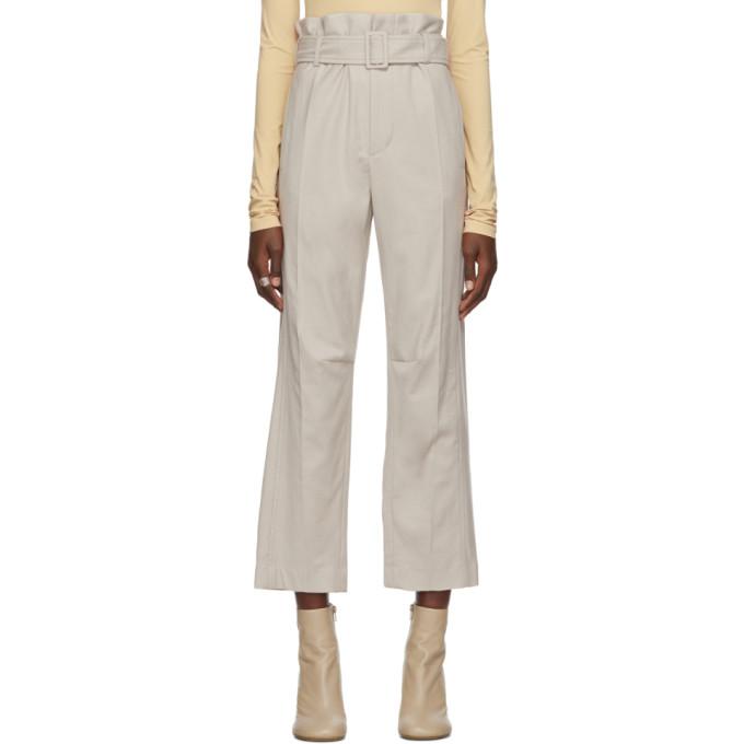 MM6 Maison Margiela Pantalon a ceinture beige
