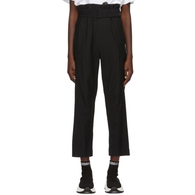MM6 Maison Margiela Pantalon a ceinture noir