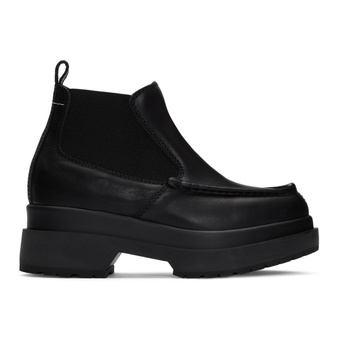 MM6 Maison Margiela Black Double Sole Boots
