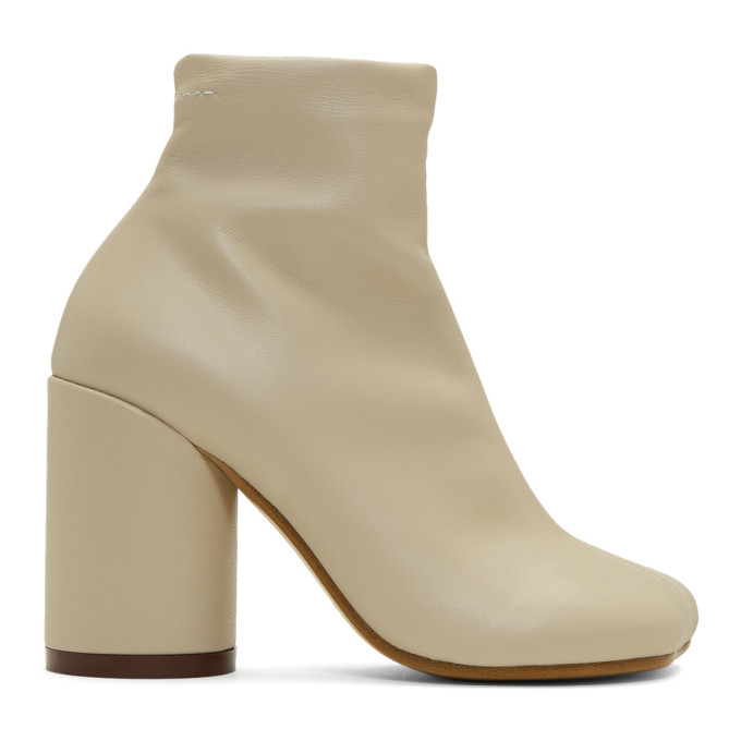 MM6 Maison Margiela Beige Foot Boots