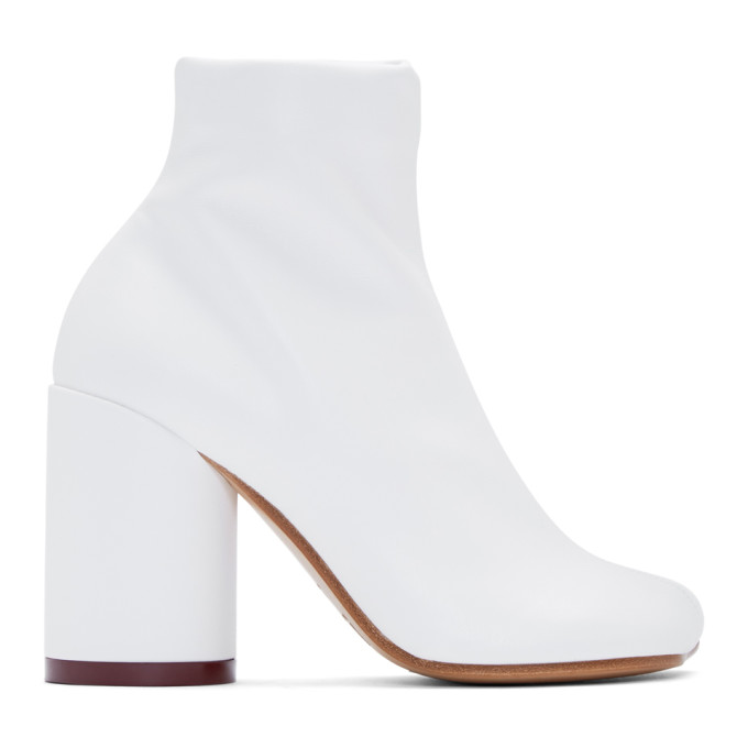 MM6 Maison Margiela White Toe Boots