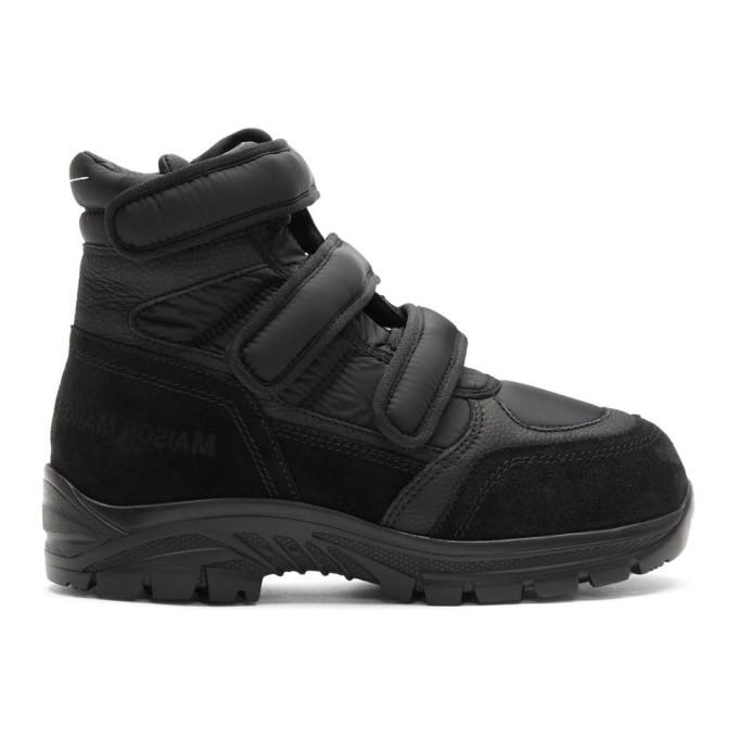 MM6 Maison Margiela Black Velcro High Top Sneakers
