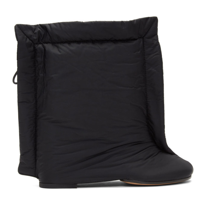 MM6 Maison Margiela Black Mid-Calf Rectangle Boots