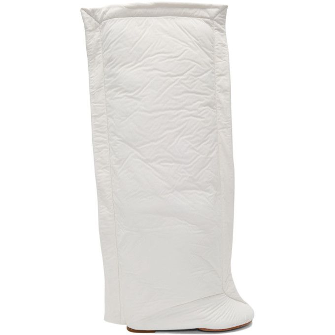 MM6 Maison Margiela White Pillow Boots