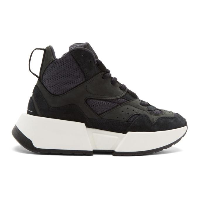 MM6 Maison Margiela Black High-Top Chunky Sneakers