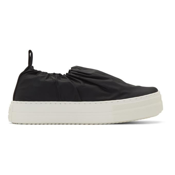 MM6 Maison Margiela Black Covered Slip-On Sneakers