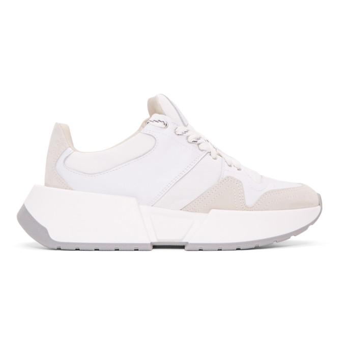 MM6 Maison Margiela White Runner Sneakers