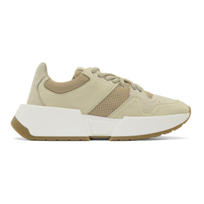 MM6 Maison Margiela Taupe and Tan Chunky Sneakers