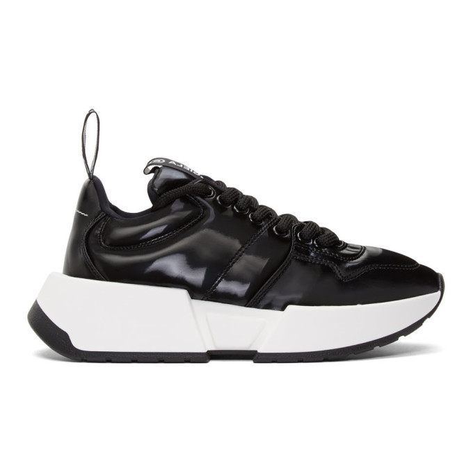 MM6 Maison Margiela Black Padded Low-Top Sneakers