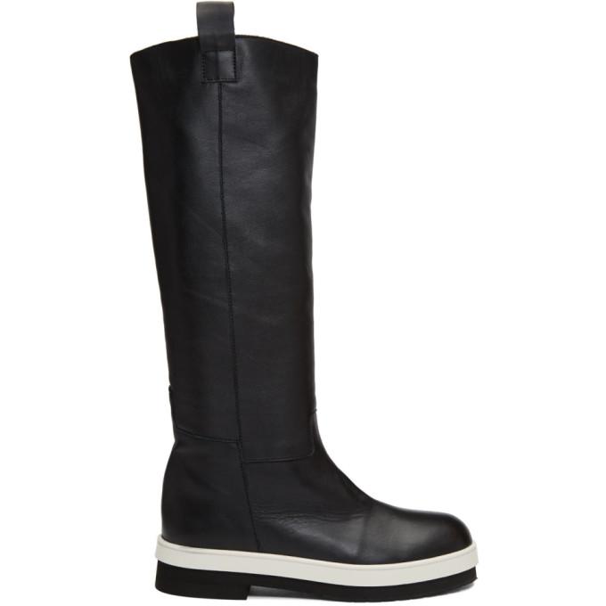 Plan C Black Calfskin Boots