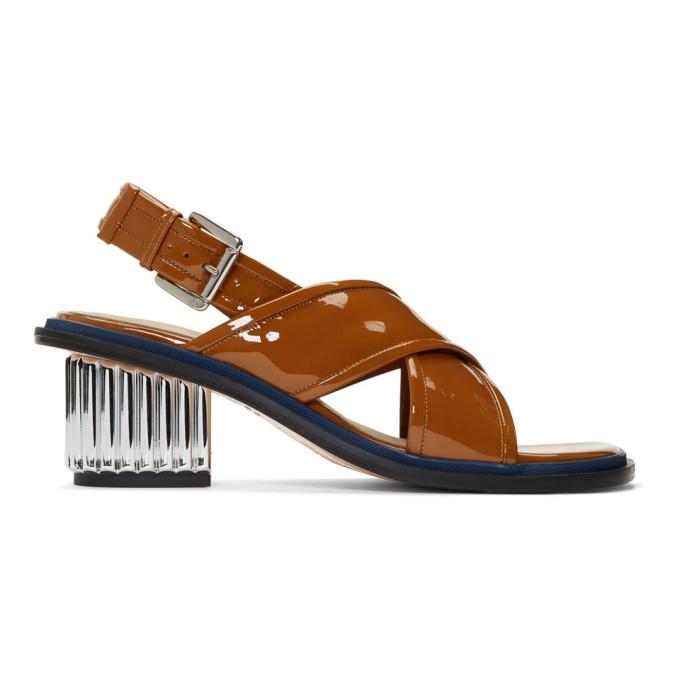 Plan C Brown Crossband Sandals
