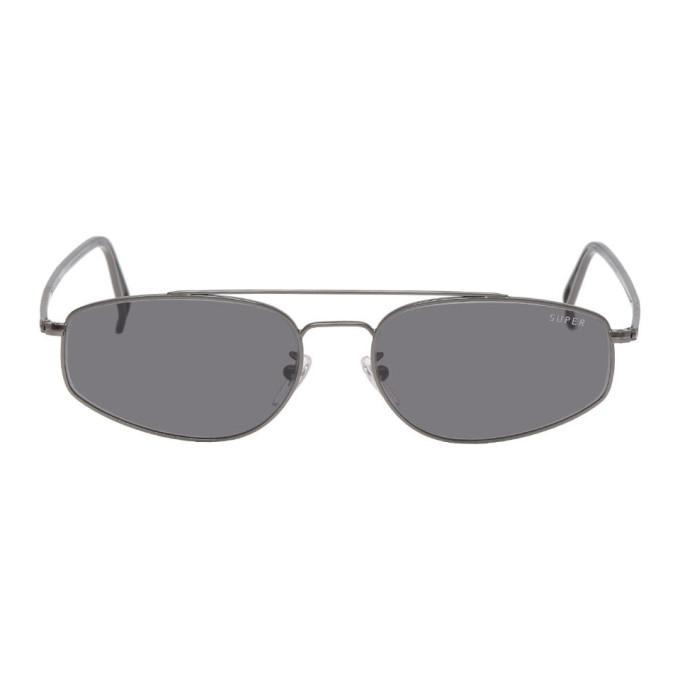 SUPER | Super Gunmetal Tema Sunglasses | Goxip