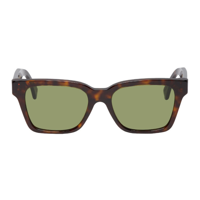 SUPER | Super Tortoiseshell And Green America Sunglasses | Goxip