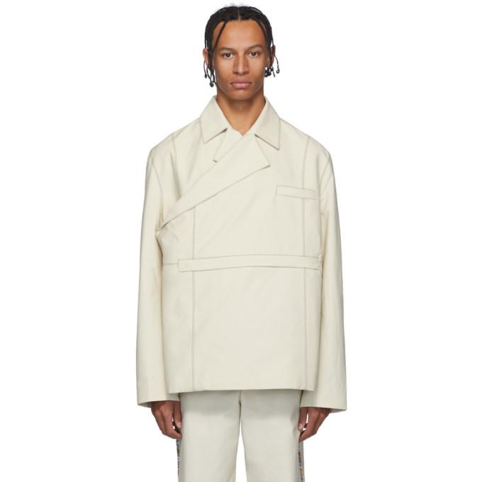 paria /FARZANEH Blouson impermeable blanc casse Kimono