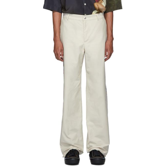 paria /FARZANEH Pantalon a passepoil blanc casse