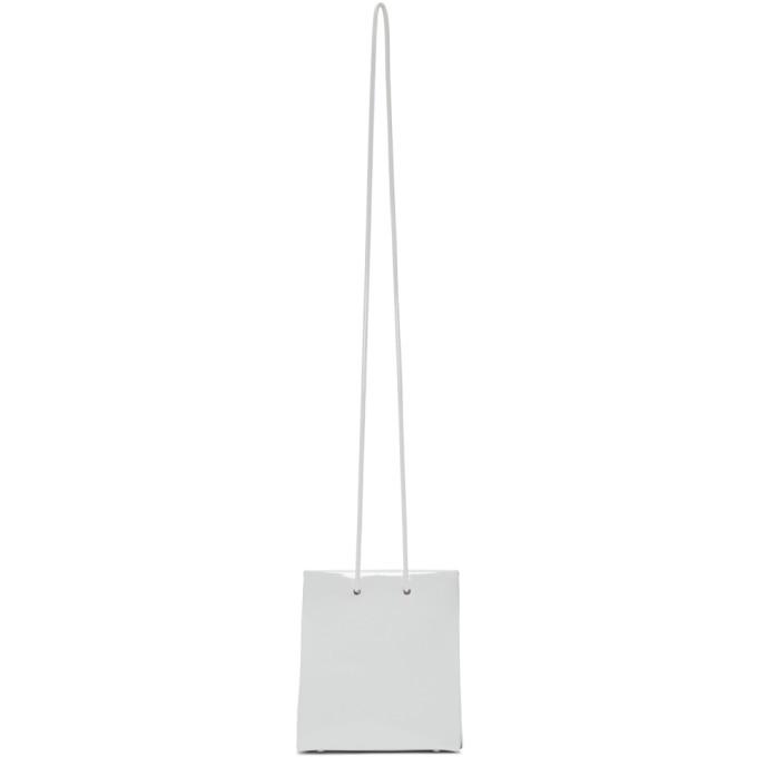 Medea Sac en vinyle blanc Long Strap Short