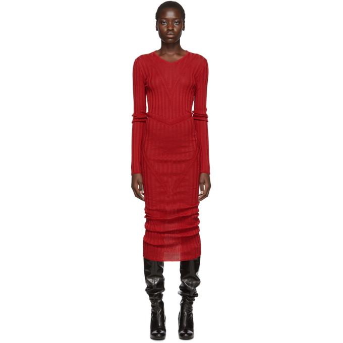 Pihakapi Robe en maille rouge Ray