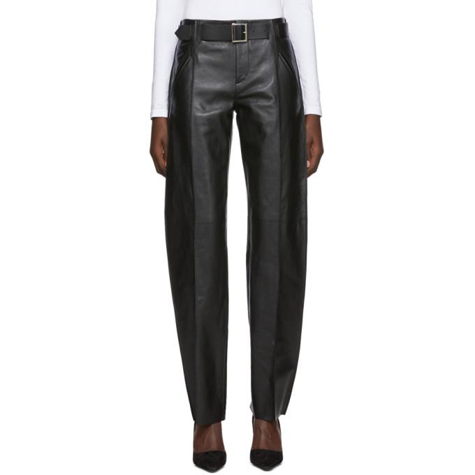 Pihakapi Pantalon en cuir noir Vivo