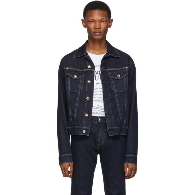 Versace Jeans Couture インディゴ Pure デニム ジャケット