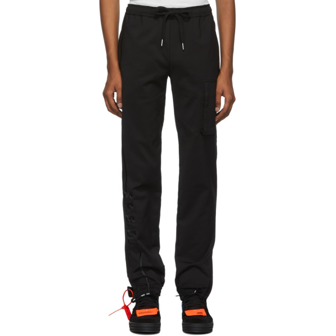 Spencer Badu Pantalon de survetement a logo noir Jogger