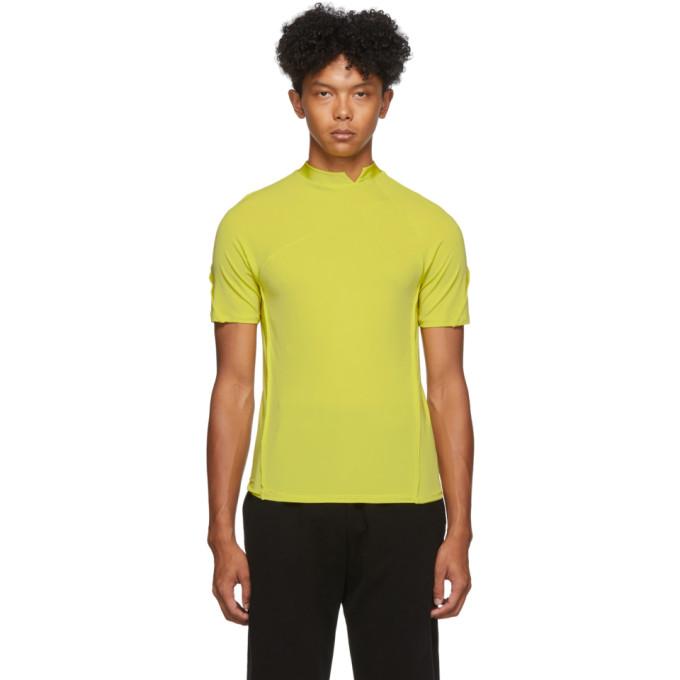 Spencer Badu T-shirt a col cheminee jaune