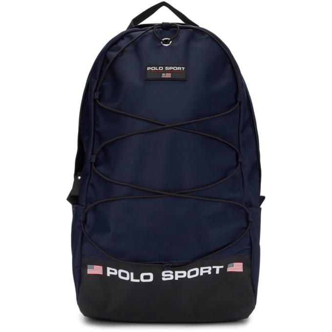 Polo Ralph Lauren ネイビー ナイロン Polo Sport バックパック