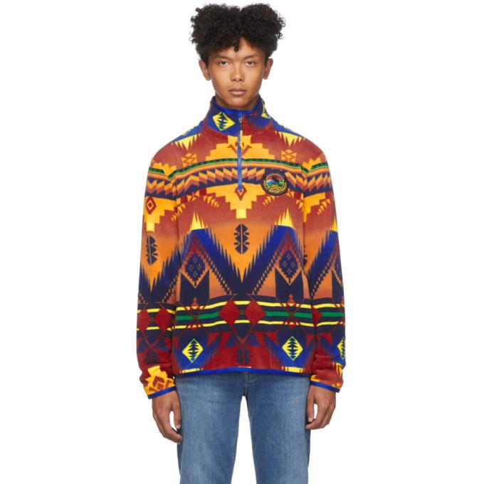 Polo Ralph Lauren Multicolor Fleece Southwestern Sweater