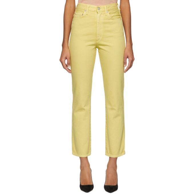 Agolde Jean jaune Pinch Waist Hi Rise Kick