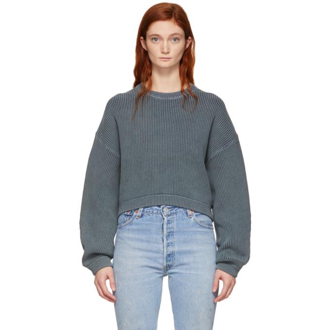 T BY ALEXANDER WANG | Alexanderwang.T Grey Cropped Utility Sweater | Goxip