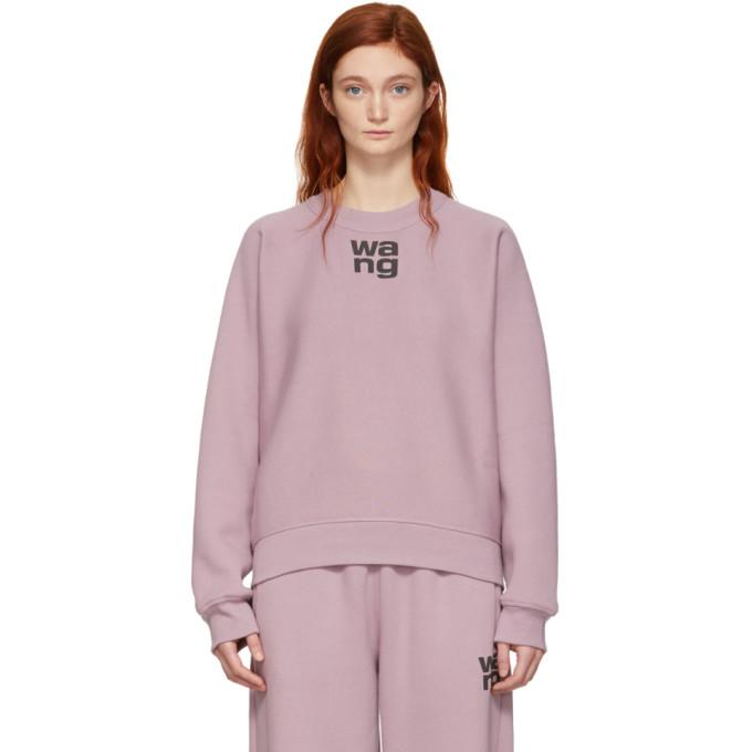 T BY ALEXANDER WANG | Alexanderwang.T Pink Wash And Go Dense Logo Sweatshirt | Goxip