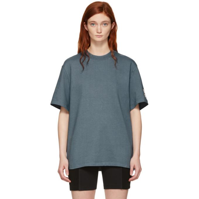T BY ALEXANDER WANG | Alexanderwang.T Grey Oversized Wash And Go Puff Logo T-Shirt | Goxip