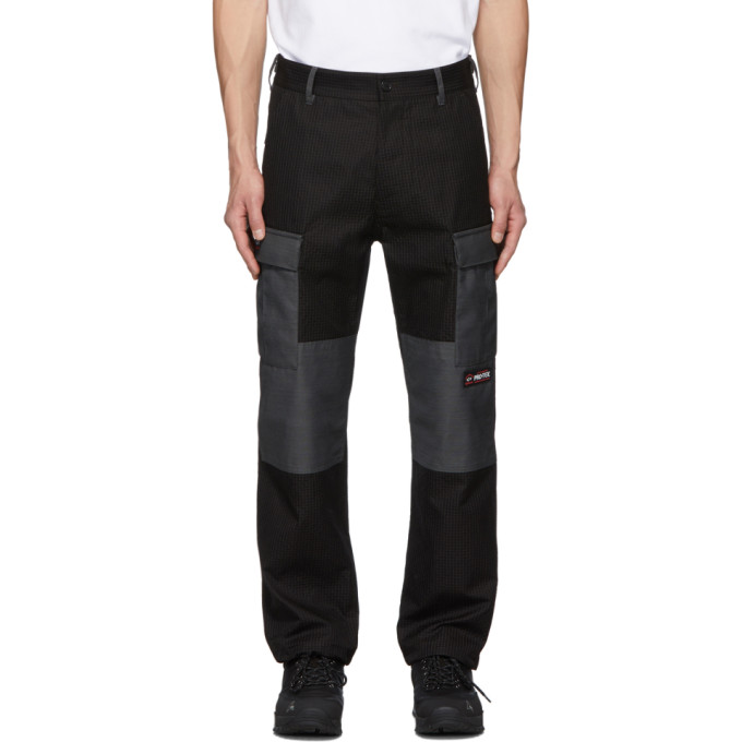LQQK Studio for Paul and Shark Pantalon cargo en tissu anti-dechirures noir