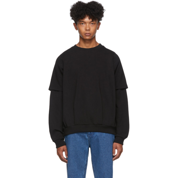 Keenkee Black Sculpture Double T Sweatshirt