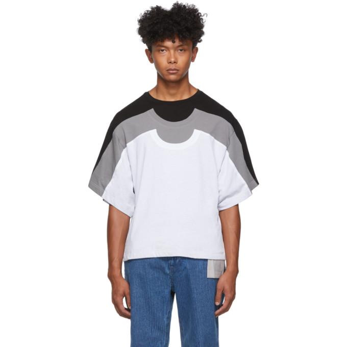 Keenkee T-shirt contraste noir et gris