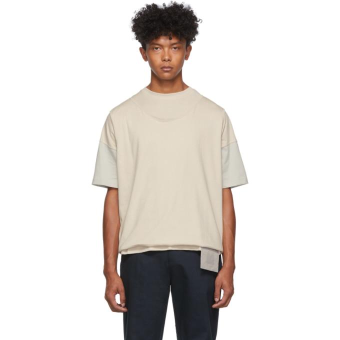Keenkee T-shirt blanc casse et gris Roll-Up