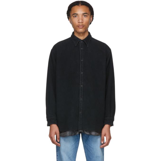 Kuro T-shirts KURO BLACK COTTON FLEECE SHIRT