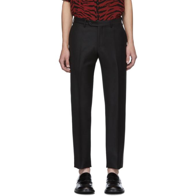 Eidos Pantalon en mohair et en laine noir