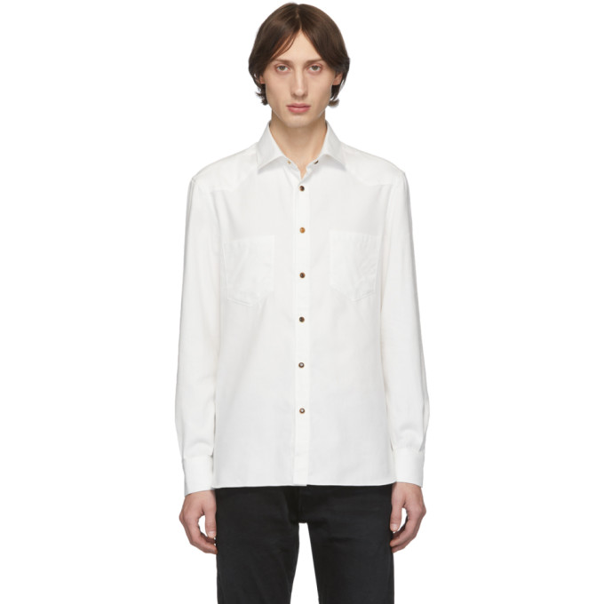 Eidos Chemise western blanche Washed