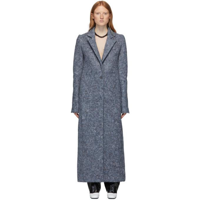 Marina Moscone Manteau bleu U-Haul Blanket