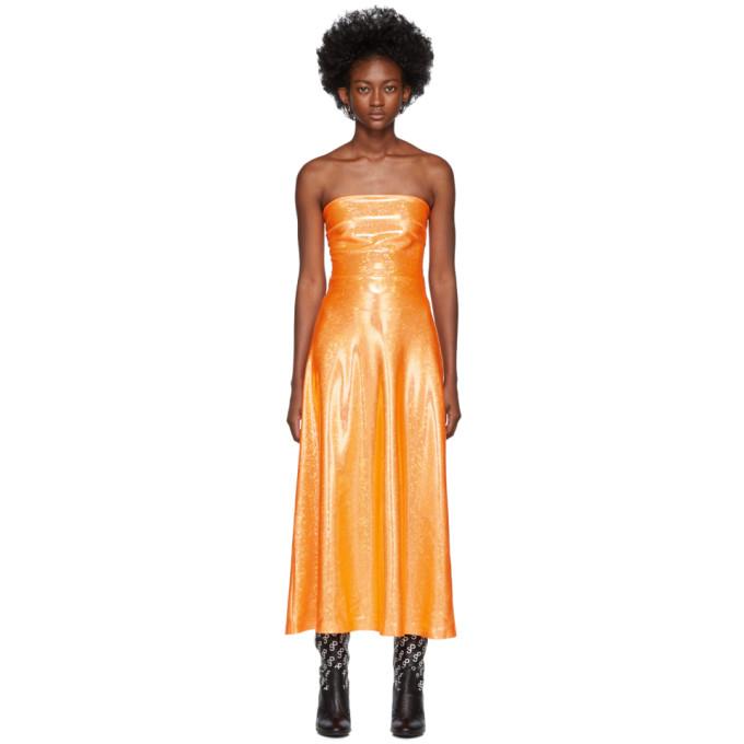 Saks Potts Robe scintillante orange Jepska