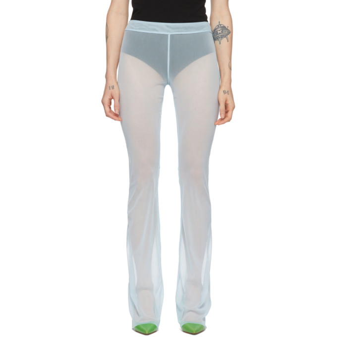Supriya Lele Pantalon en filet bleu