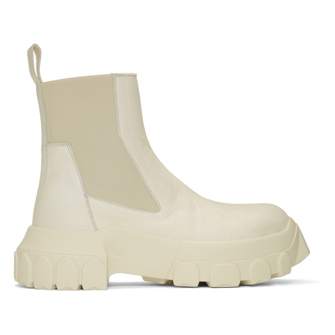 Rick Owens Off-white Bozo Tractor Beetle Boots