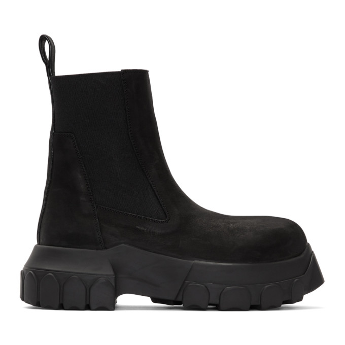 Rick Owens Black Bozo Beatles Boots