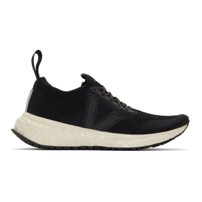 Rick Owens Black Veja Edition V-Knit Sneakers