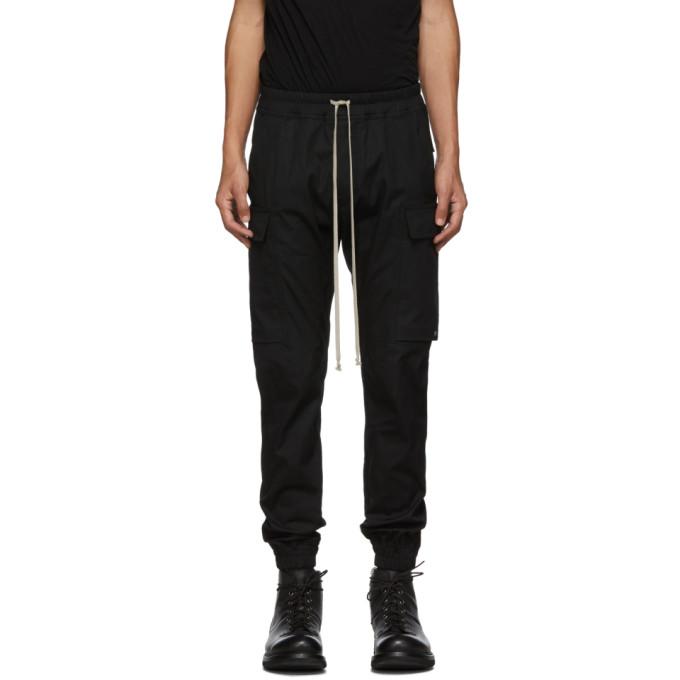Rick Owens Pantalon cargo noir Jogger