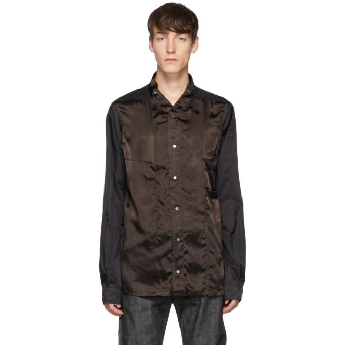 Rick Owens Chemise noire et brune Faun