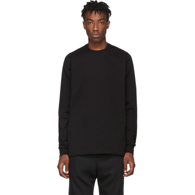 Rick Owens Black Larry Short Crewneck Sweatshirt