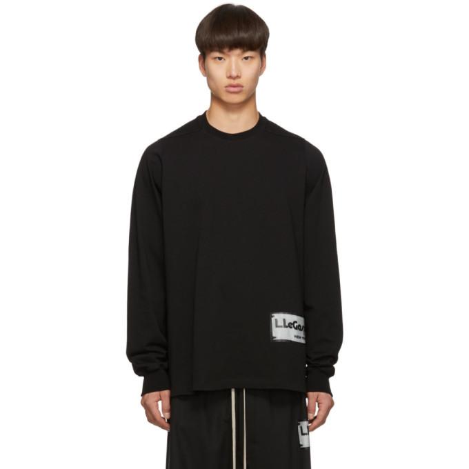 Rick Owens Black Patch Crewneck Sweater