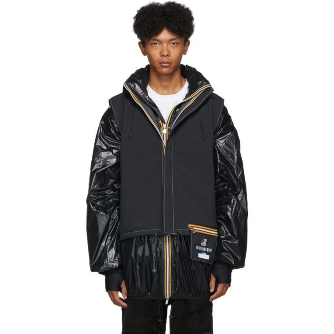 Afterhomework Black K-Way Edition Polar Yannick Two-Layers Vest and Jacket